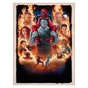 Deadpool. Размер: 30 х 40 см